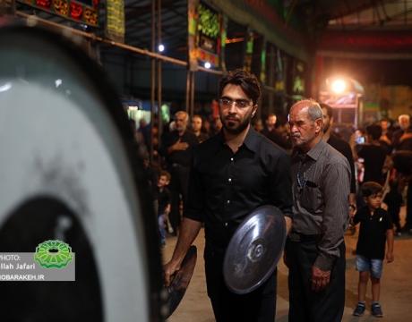 گزارش تصویری / مراسم عزاداری حضرت ابا عبدا... الحسین(ع) /حسینیه مرکزی مبارکه / حسینیه محله قلعه