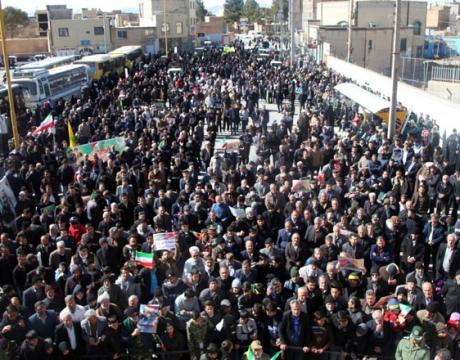 گزارش تصویری /حضور پرشور مردم شریف و شهید پرور شهر مبارکه در راهپیمایی یوم الله 22 بهمن