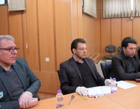 گزارش تصویری / جلسه هماهنگی طرح ضد عفونی شهر در راستای مبارزه با شیوع ویروس کرونا