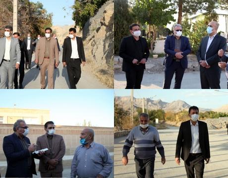 بازدید شهردار ،رئیس و اعضای شورای اسلامی شهر مبارکه از محلات درچه و شیخ آباد پیرامون اولویت بندی پروژه های عمرانی